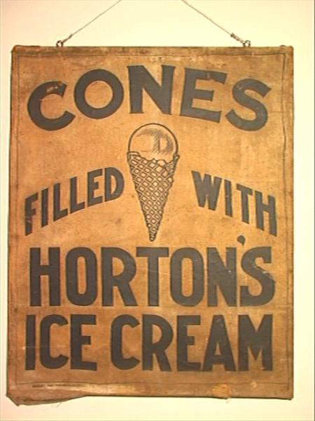 Wooden Ice Cream Sign