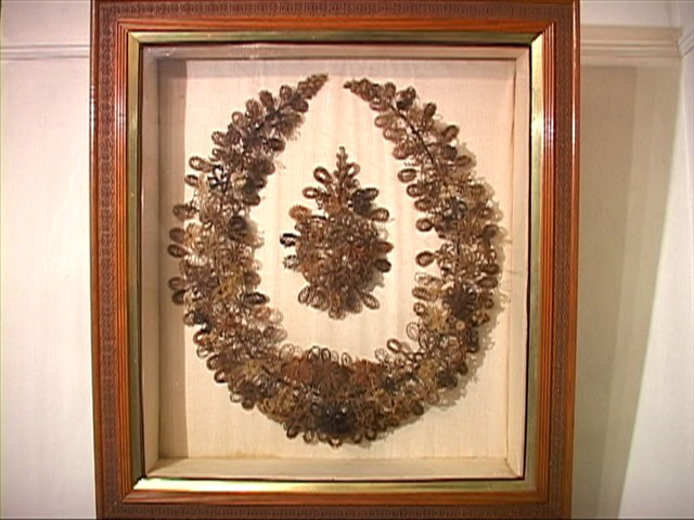 Wreath made of hair - circa 1890